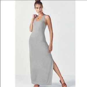 FABLETICS Iliana grey Racerback maxi dress NWT